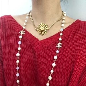 Chanel lion necklace